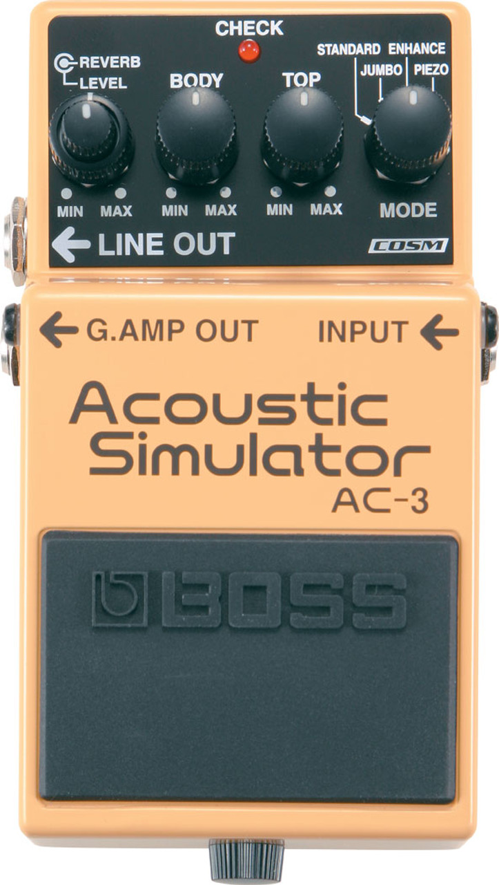 Boss AC‑3 Acoustic Simulator Effect Pedal