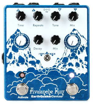 EarthQuaker Devices Avalanche Run V2 Stereo Delay & Reverb Guitar Pedal