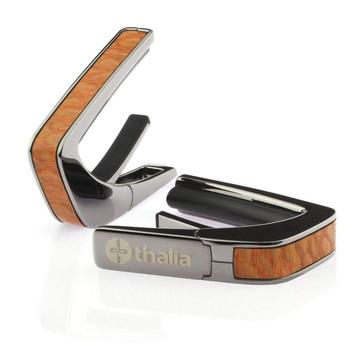 Thalia Capos 200 Series Capo Chrome, Brazilian Lacewood Inlay
