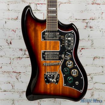 Guild S-200 T-Bird Electric Guitar Antique Burst 3791501837 MSRP $1180 (3791501837B )