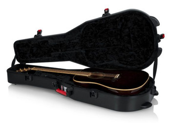 Gator Cases Molded Flight Case For Acoustic Dreadnought Guitars With TSA Approved Locking Latch (GTSA-GTRDREAD)