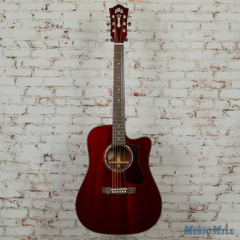 Guild D-120CE Acoustic Electric Guitar Cherry Red MSRP $1,115