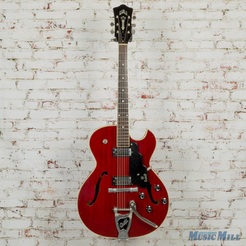 1969 Guild Starfire III Thinline Electric Archtop Starfire Red w/HSC (USED)