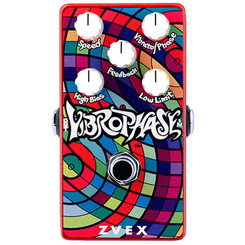 ZVEX Vertical Vibrophase Vibrato Phaser Guitar Effects Pedal