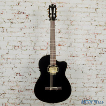 2018 Fender CN-140CE Nylon Acoustic-Electric Black w/HSC (DEMO) oi18035015