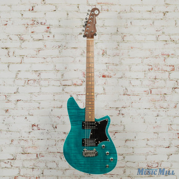 Reverend Kingbolt RA FM Electric Guitar Turquoise Flame Maple x6141