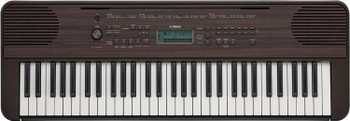 Yamaha PSR-E360 61-key Portable Keyboard with Built-in Instrument Voices Dark Wood Grain