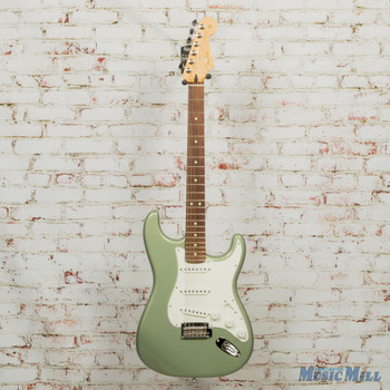 2018 Fender Player Strat PF Sage Green Metallic DEMO MX18053529