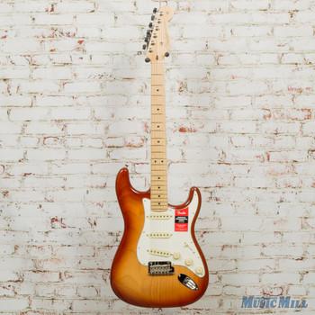 2018 Fender American Professional Stratocaster Sienna Sunburst w/OHSC DEMO US18095466