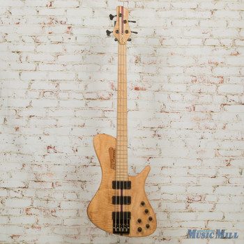 MG Bass Wavebird Tiger 4 Electric Bass Guitar Maple Tiger w/HSC