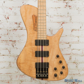 MG Bass Wavebird Tiger 4 Electric Bass Guitar Maple Tiger w/HSC (USED)