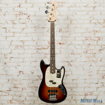 Fender American Performer Mustang Bass, Rosewood, 3-Color Sunburst