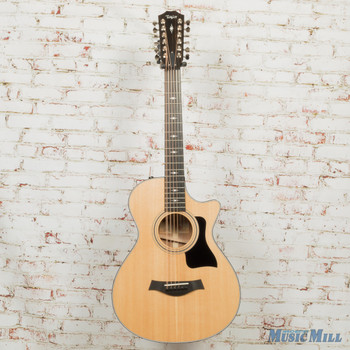 2019 Taylor 352ce V-Class 12-Fret Grand Concert 12-String Acoustic Electric Guitar Natural