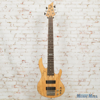 2010 LTD by ESP  B206SM  6-String Electric Bass Natural Spalted Maple (USED)