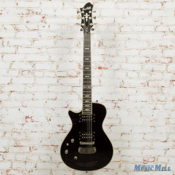 Hagstrom Ultra Swede Left-Handed Electric Guitar Black (USED)