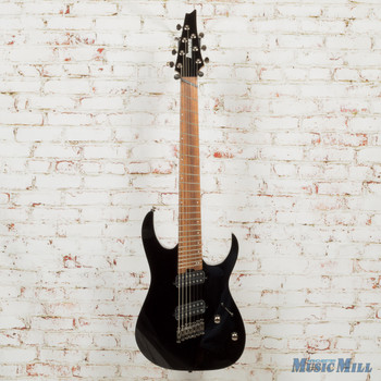 Ibanez RGMS7 BK 7‑String Multi‑Scale Electric Guitar Black x6204