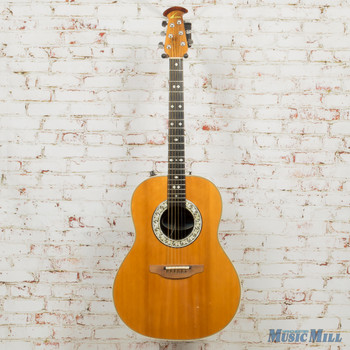 1982 Ovation 1612 Custom Balladeer Acoustic Electric Guitar Natural (USED)