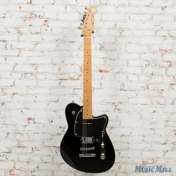 Reverend Double Agent OG Electric Guitar Midnight Black x7711