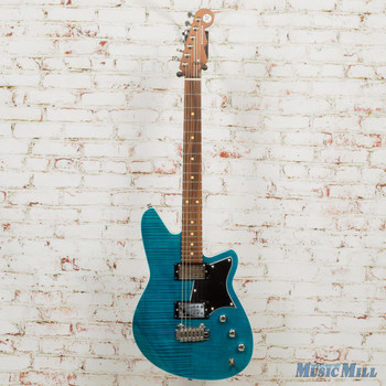 Reverend Kingbolt RA FM Electric Guitar Turquoise Flame Maple x7379