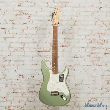 2018 Fender Player Strat PF Sage Green Metallic DEMO mx19012699