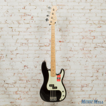 2017 Fender American Professional Precision Bass - Black with Maple Fingerboard DEMO US17099631