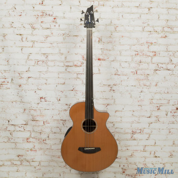Breedlove B-Stock Solo Jumbo Bass Fretless Acoustic Electric Gloss Natural