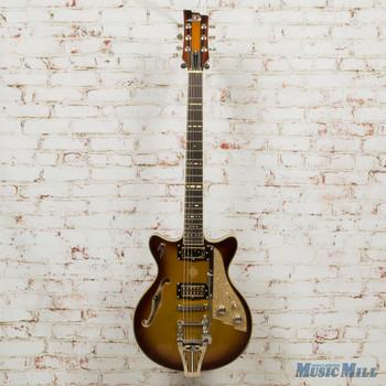 2018 Duesenberg USA Alliance Joe Walsh Semi-Hollow Electric Guitar Gold Burst (USED)