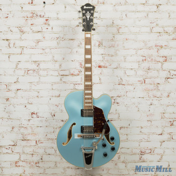 Ibanez Artcore AFS75T Hollow-Body Electric Guitar Steel Blue Flat