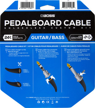 Boss BCK-24 | Solderless Pedalboard Cable Kit