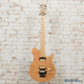 Ernie Ball Music Man Axis Electric Guitar Natural Quilt Maple Fingerboard