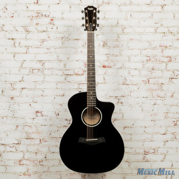 2019 Taylor 214ce Deluxe Grand Auditorium Black x9508 (USED)