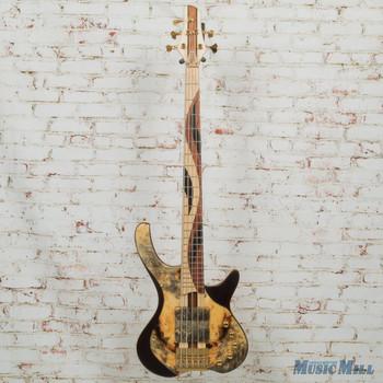 MG Bass Desert Buckeye Burl Sweetbass 5 String Bass w/OHSC