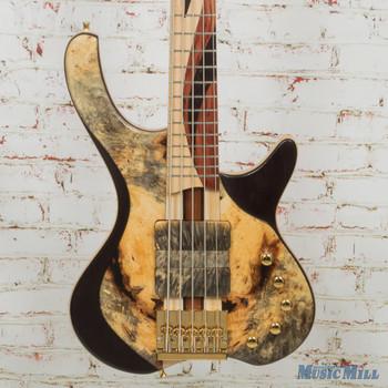 MG Bass Desert Buckeye Burl Sweetbass 5 String Bass w/OHSC (USED)