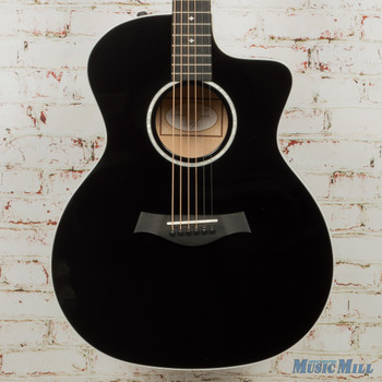 Taylor 214ce DLX Acoustic Electric Guitar-Black