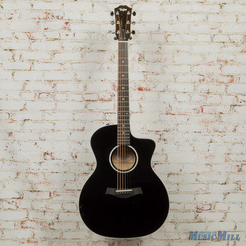 Taylor 214ce DLX Acoustic Electric Guitar-Black