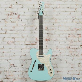 Fender Two-Tone Telecaster Thinline Daphne Blue Ebony Fretboard