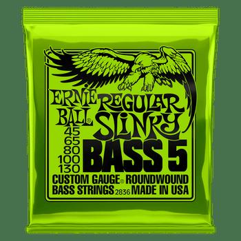 Ernie Ball 2836 Regular Slinky Bass 5-String 45-130