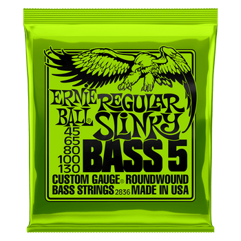 Ernie Ball 2836 Regular Slinky Bass 5-String 45-130