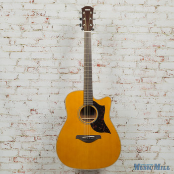 Yamaha A-Series A1M Dreadnought Acoustic Electric Cutaway Natural x0671