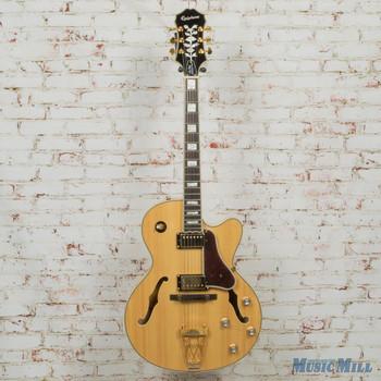 2018 Epiphone Joe Pass Sheraton II Hollowbody Electric Guitar Natural (USED)