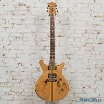 1981 Moonstone Eclipse Natural Burl Double Cut Electric Guitar (USED)