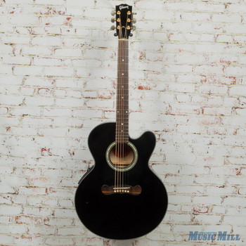 2004 Gibson EC Special Cutaway Acoustic Guitar Black with HSC x4072 (USED)