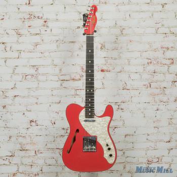 Fender Two-Tone Telecaster Thinline Fiesta Red Ebony Fretboard x8322