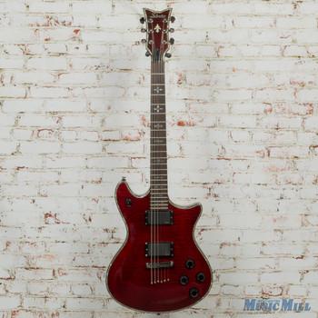 Schecter Hellraiser Hybrid Tempest - Trans Black Burst Guitar x5063 (USED)