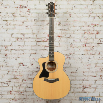 Taylor 114CE Left-Handed Layered Walnut Back and Sides Guitar x9168 (USED)