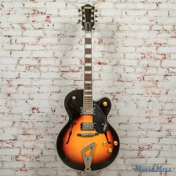 2016 Gretsch G2420 Stremliner Hollowbody Electric Guitar Aged Brooklyn Burst x2859 (USED)