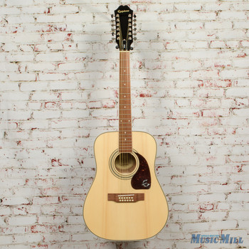 Epiphone DR-212 12-String Acoustic Guitar Natural x6096