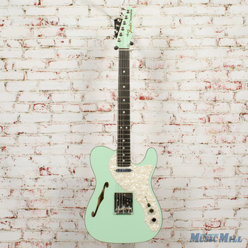 2019 Fender Limited Edition 2-Tone Telecaster Thinline Ebony Fingerboard Seafoam Green x6742