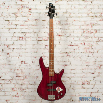 Ibanez Gio GSR200TR 4-String Electric Bass Transparent Red x0984