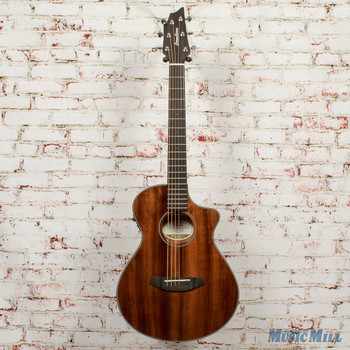 2019 Breedlove Discovery Companion CE Mahogany Acoustic-Electric Guitar Gloss Natural x2289